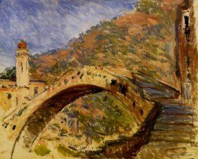 Ancora il ponte di Dolceacqua dipinto da Monet