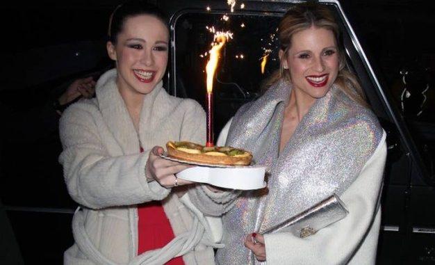 Buon compleanno Michelle Hunziker! La torta la porta Aurora