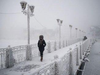 Siberia: freddo record di -89 gradi. La città è congelata