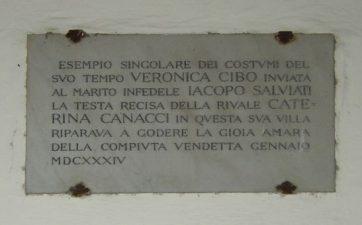 Lapide commemorativa di Veronica Cybo Malaspina