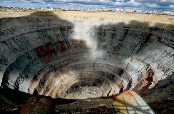 Miniera di diamanti di Mirny (Russia Siberia)