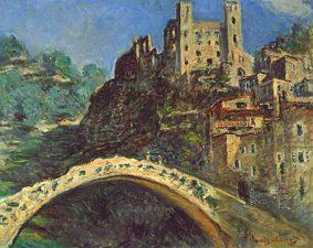 Dipinto di Dolceacqua di Monet col famoso ponte