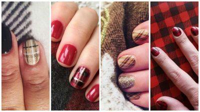 plaid-nails-le-idee-piu-glamour-per-una-manicure-invernale
