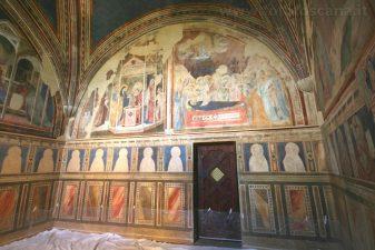 Particolare della Cappella affrescata da Taddeo Gaddi