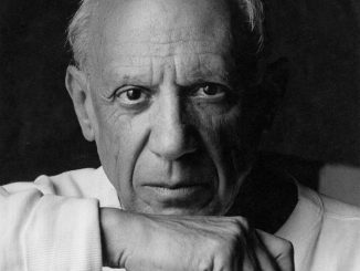 372224 02: ***EXCLUSIVE*** Portrait of artist Pablo Picasso June 2, 1954 in Vallauris, France. (Photo by Arnold Newman/Getty Images)