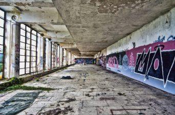 Corridoio dell'ex sanatorio