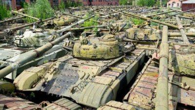 Deposito di carri armati abbandonati di Lenta