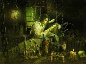Immagine fantastica di Dippel durante un esperimento