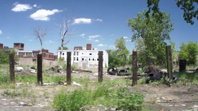 Il ghetto di Detroit nel 2014