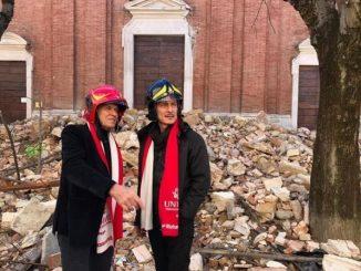 Gianni Morandi a Camerino: il suo conforto per i terremotati