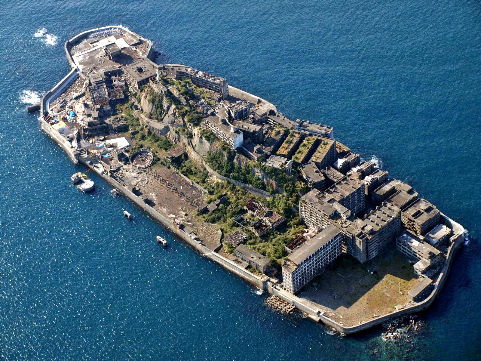 Hashima Island dall'alto
