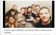 Nitro a Berlino con dei fans