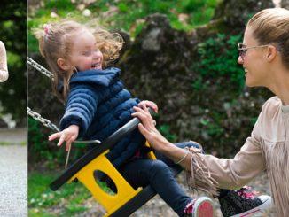 Michelle Hunziker al parco con la figlia Sole: foto
