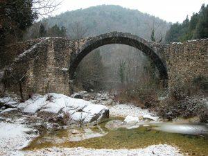 Il Ponte della Pia d'inverno con la neve