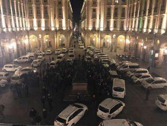 Protesta Tassisti scontri a Roma davanti alla sede del PD