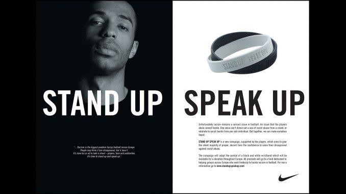 Thierry henry: campagna contro il razzismo