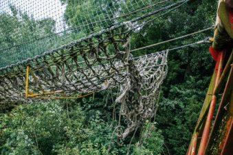 Il ponte a corde abbandonato