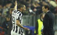 """Juventus, diverbio tra Allegri e Bonucci. Il ct: """"Ecco com'è andata"""""""