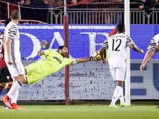 Cagliari-Juventus: ecco le pagelle dei bianconeri. Higuain fa doppio centro e Buffon vola