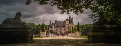 Castello di Chenonceau in un'atmosfera lugubre