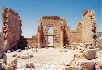 Particolare di Qasr al-Hallabat