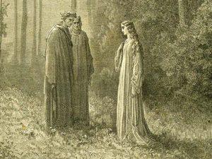 Illustrazione dell'incontro di Dante e Virgilio con Pia de' Tolomei