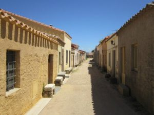 Strada deserta di San Salvatore di Sinis