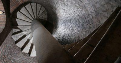 Scale di sicurezza del bunker di Villa Ada