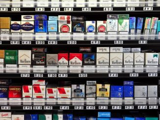 Packets of cigarettes are pictured in a shop in central London on July 12, 2013. Britain announced it had postponed plans to introduce plain packaging on cigarettes, saying it was waiting to see the results of a similar move in Australia. AFP PHOTO/CARL COURT        (Photo credit should read CARL COURT/AFP/Getty Images)