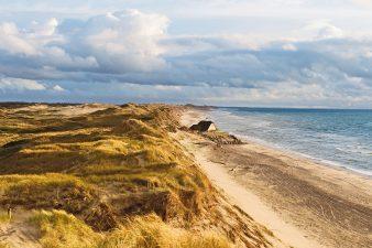 La costa di Skagen (Danimarca)