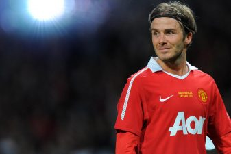 (FILES) This file photo taken on May 24, 2011 shows former Manchester United player David Beckham receives applause after a testimonial football match between Manchester United and Juventus for Manchester United's Gary Neville at Old Trafford in Manchester, north west England.David Beckham's dream of playing in the Olympics he helped secure for his hometown came to an end on June 28, 2012 after he was left out of Great Britain's squad for the Games. AFP PHOTO/ANDREW YATES FOR EDITORIAL USE Additional licence required for any commercial/promotional use or use on TV or internet (except identical online version of newspaper) of Premier League/Football League photos. Tel DataCo +44 207 2981656. Do not alter/modify photoANDREW YATES/AFP/GettyImages