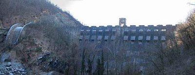 Vista panoramica della diga