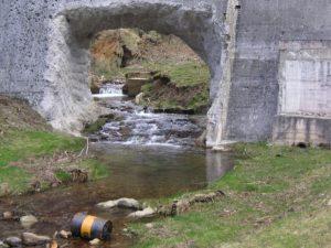 Stato di abbandono della diga