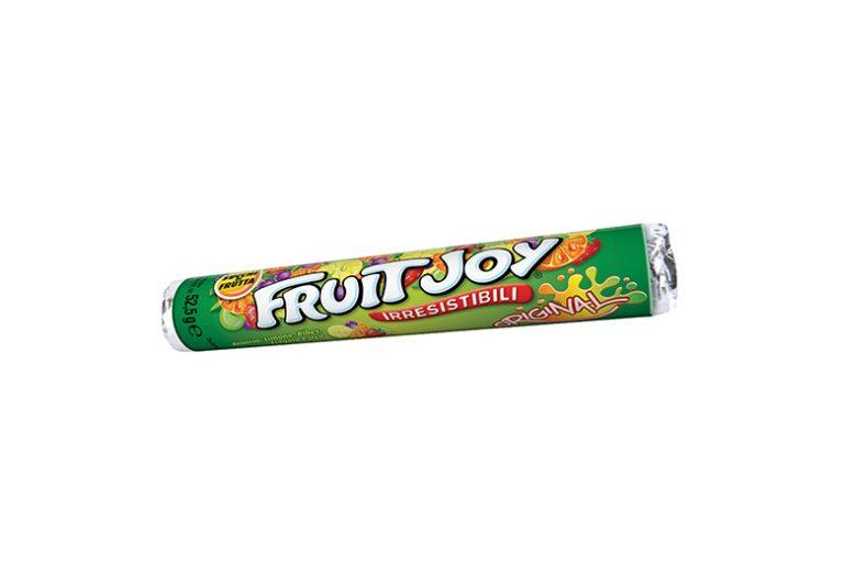 Fruit Joy: la caramella succosa alla frutta da masticar come dice il celebre spot