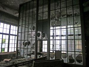 Ufficio della miniera in abbandono