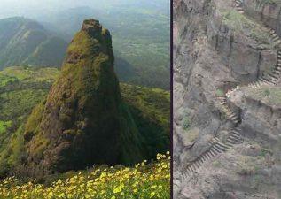Il Kalavantin Durg in primavera e la sua scalinata