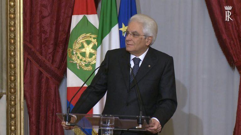 Mattarella discorso
