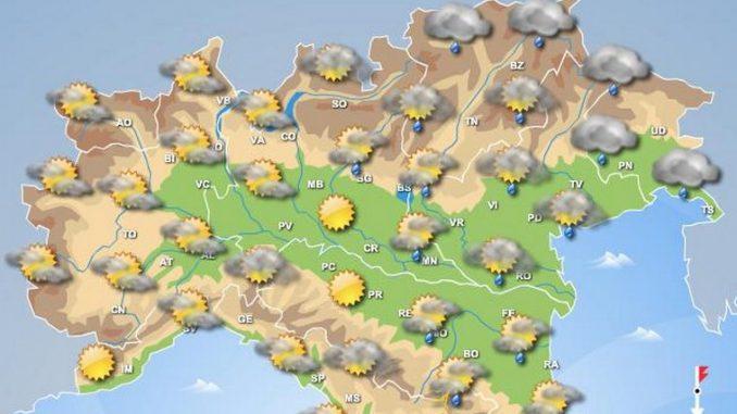 Meteo Piemonte: piogge e temporali anche nel corso del week end