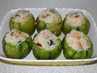 Ricetta zucchine ripiene di riso