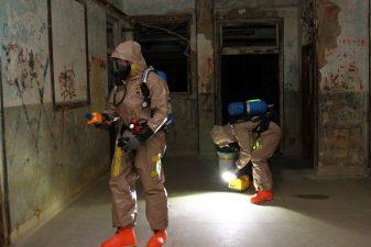 Ghosthunters (cacciatori di fantasmi) al lavoro