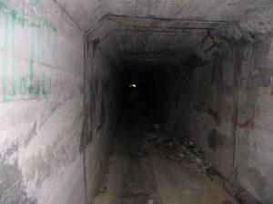 Corridoio-tunnel nel sanatorio
