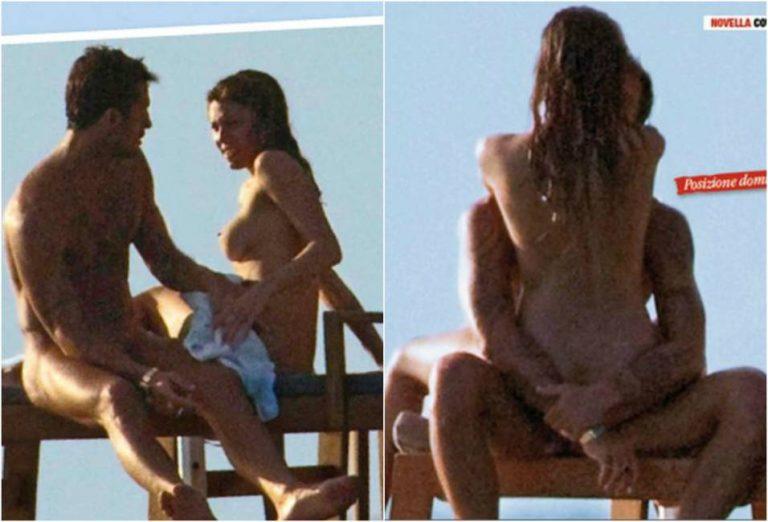Belen Rodriguez si imbatte nel paparazzo che l'aveva fotografata nuda. Serata rovinata