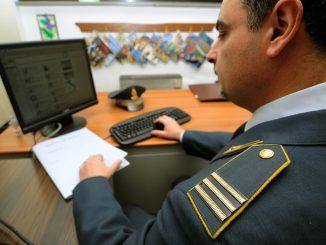 Controlli della Guardia di Finanza a Cosenza.