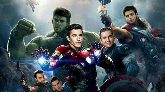 MotoGp: -9 all'inizio. Sui social, i piloti si trasformano in Avengers
