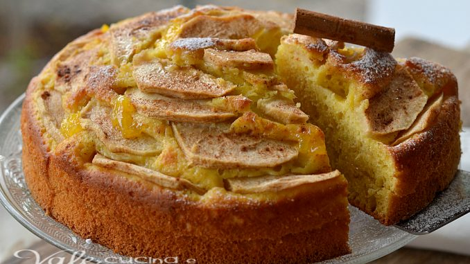 Torta di mele con ricotta e cannella