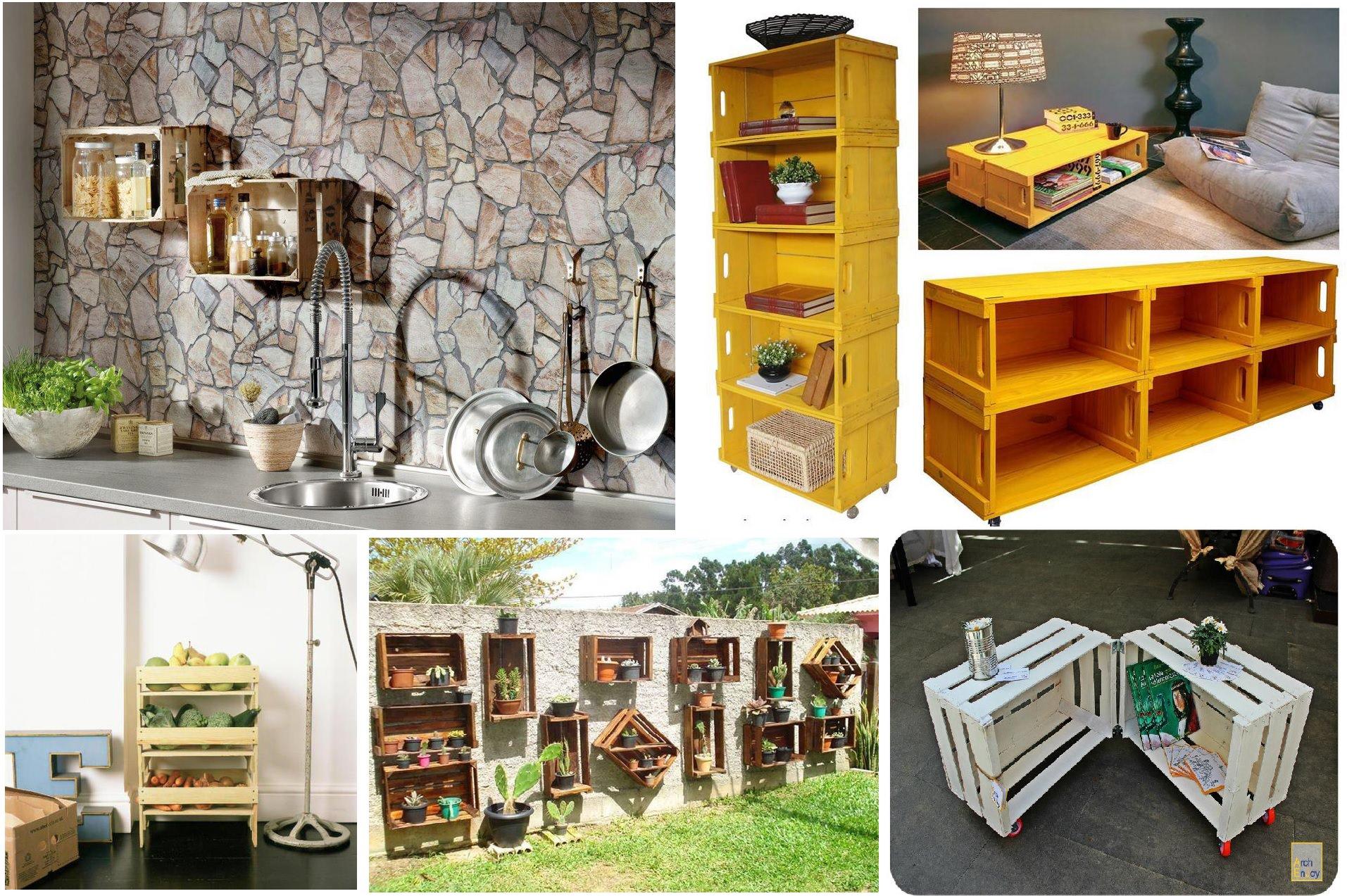 Trasformare cassette della frutta in decorazioni per la casa - Shopping per la casa ...
