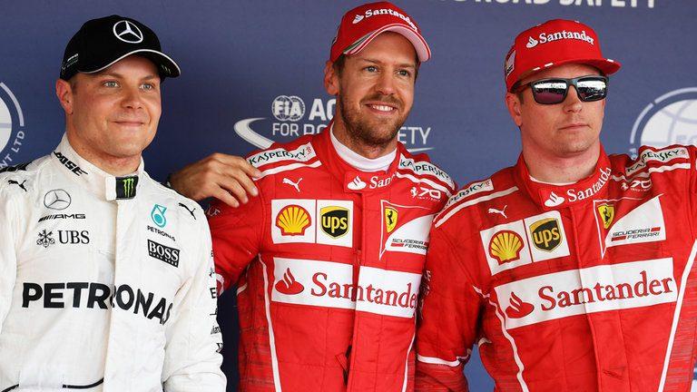 Formula 1, Gp Russia: due Ferrari in prima fila. Pole di Vettel e Raikkonen secondo