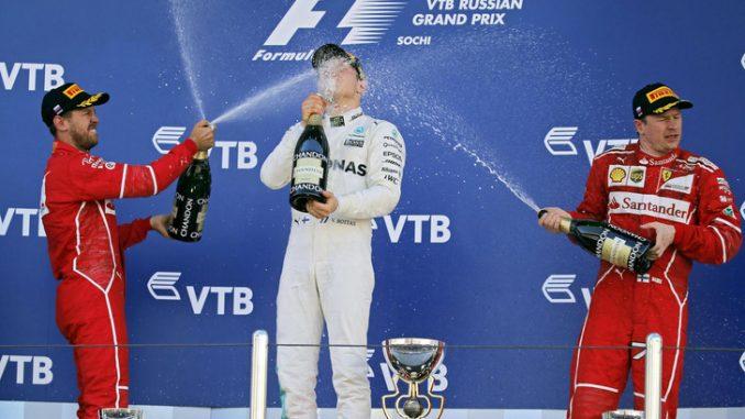 Formula 1, GP Russia: Bottas trionfa davanti alle Ferrari