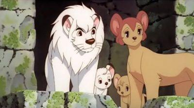 Kimba con la sua famiglia