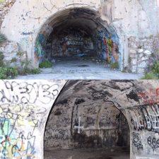 Bunker con graffiti
